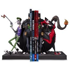 Batman Joker and Harley Bookends Statue - DC Collectibles - Batman - Statues at Entertainment Earth Joker Batman, Batman Stuff, Joker Und Harley Quinn, Batman Gifts, John Romita Jr, Dc Comics, Bookends, Marvel Dc, Action Figures