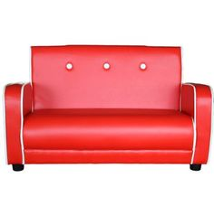 All 4 Kids Kids Toddler Retro Sofa Couch Colour: Red 4 Kids