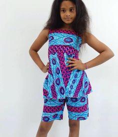 Ankara Styles For Kids; Little Girls And Baby Girls Ankara Styles Modern African Print Dresses, African Dresses For Kids, African Children, African Traditional Dresses, African Fashion Dresses, African Clothes, Nigerian Fashion, African Outfits, Ankara Fashion