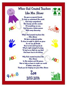 """There are times when the two most important words that can be said are Thank and You.Take this opportunity to acknowledge that special teacher for making a difference in your child's life with this adorable unique one-of- a- kind appreciation gift. Teacher Appreciation Wall Keepsake Gift Idea For A Special Teacher Personalized School Teacher 8.5""""X11 Classroom Wall Picture Gift """" When God Created Teachers"""" Is A keepsake Gift. Download Print And Frame. by Southern Digi Art Cafe on Etsy,"""