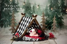 Newborn camping photography – New Ideas Camping Photography, Newborn Photography Props, Children Photography, Baby Boy Photos, Newborn Pictures, Baby Pictures, Baby Christmas Photos, Christmas Portraits, Christmas Mini Sessions