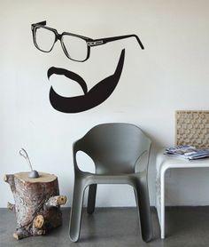 a hipsta mista...wall decal
