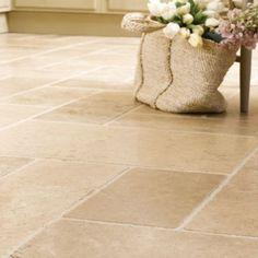 Old Tuscan Travertine tile for kitchen floor