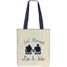 Just Married Tote Bag - Customize w/ Your Names! $11.97 #justmarried #wedding #honeymoon