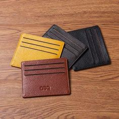 In fact, this card holder is so slim that you can slide it easily in your front pocket.