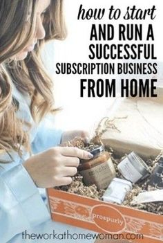 how to start run a successful subscription business from home