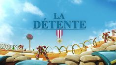 """""""La Detente"""" is a stunning computer-animated short film created by directing team Pierre + Bertrand that tells the story of a French soldier in World War I who escapes to a brightly colored fantasy..."""