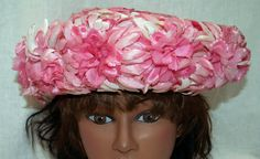 Pink Daisy Flowers / Bumper Style / Upturned Brim / by ABetterTime, $20.00