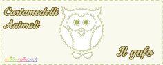Cartamodelli Gufo da stampare gratis: 3 sagome di gufo di varie misure (grande, medio e piccolo) da ritagliare su stoffa, feltro, pannolenci, carta.