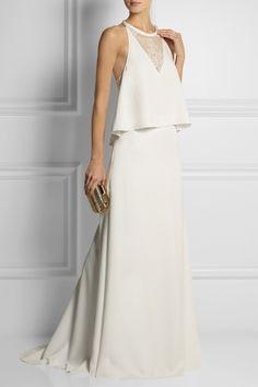 Ten Stunningly Unique Wedding Gowns: Rime Arodaky two piece gown via Net-a-Porter