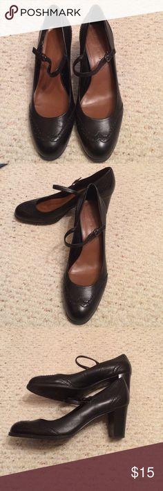 Black mary jane heels Gently used mary jane heels Etienne Aigner Shoes Heels