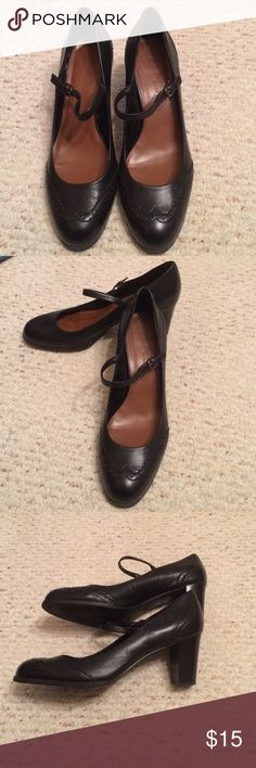Black mary jane heels Gently used mary jane heels Etienne Aigner Shoes Heels