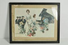 Antique 1906 Art Lithograph Signed Howard Chandler Christy Our Girl Graduate #ArtNouveau