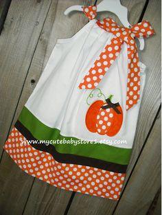 Pumpkin Pillowcase Dress. $28.00, via Etsy.