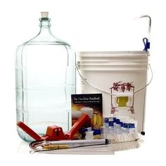 Gold Complete Beer Equipment Kit with 6 Gallon Glass Carboy - - Product Description: Take your homebrew to the next level. The Gold Homebrew Kit has all you need to get brewing and adds a glass carboy Wine Making Supplies, Wine Making Kits, Make Beer At Home, How To Make Beer, Wine Making Equipment, Brewing Supplies, Beer Brewing Kits, Homemade Beer, Brewing Equipment