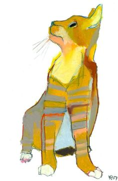 By Kelly Packer… KittyCommotion.com really likes this painting. It captures this cat's personality