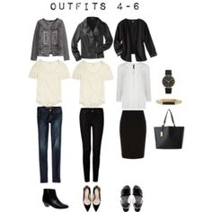 Outfits 4-6 from the 5 Item French Wardrobe