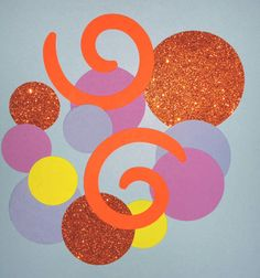 Orange Blue Purple Dreamworks Home themed birthday party favor confetti table decor scatter invitations glitter 100 candy station
