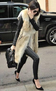 kendall-jenner-street-style-fake-fur-vest