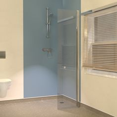 UniClosure 520 Hinged Wet Room Screen with special wall profile suitable for wet rooms with vinyl flooring.