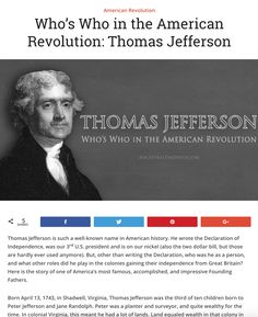 Who was Thomas Jefferson? Beyond being our third president and author of the Declaration of Independence, who was he? Who Was Thomas Jefferson, Founding Fathers Quotes, Declaration Of Independence, American Revolution, Us Presidents, Historical Photos, Genealogy, American History, Homeschooling