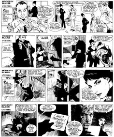 """""""La Machine."""" The very first MODESTY BLAISE comic adventure (originally published in the Evening Standard 13/5/1963-21/9/1963) -- 18  Story by Peter O'Donnell, illustrated by Jim Holdaway"""