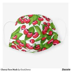 Shop Cherry Face Mask created by GoodJeenz. Fruit Print, How To Protect Yourself, Shape Of You, Health And Safety, Sensitive Skin, First Love, Health Care, Create Your Own, Cherry