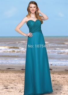 >> Click to Buy << Latest Design Turquoise Green Bridesmaid Dress with Lace 2015 Sweetheart Dress For Party A Line Chiffon Vestido De Festa MB594 #Affiliate