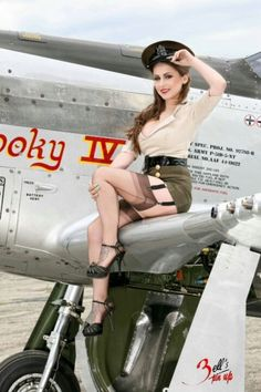 Beautiful military pin up http://thepinuppodcast.com  re-pinned this because we…