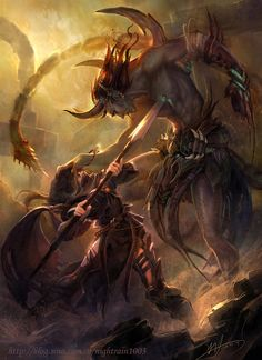 Fantasy Art: Fight - 2D Digital, Concept art, FantasyCoolvibe – Digital Art