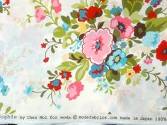 Sophie Chez Moi Nosegay cream moda fabric FQ or more by claydeal