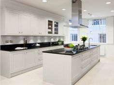 Image result for shaker kitchen with granite worktop