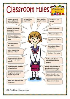 Classroom rules - English ESL Worksheets for distance learning and physical classrooms Learning English For Kids, English Lessons For Kids, Kids English, English Language Learning, Teaching English, Learn English Grammar, English Writing Skills, Learn English Words, English Vocabulary