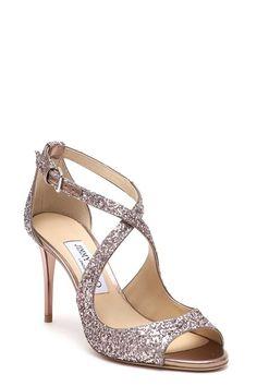 5925ba1abcd JIMMY CHOO glitter crisscross sandal
