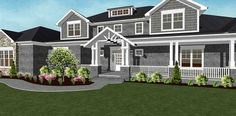 Craftsman home with Spectacular Master Suite - 77636FB thumb - 05