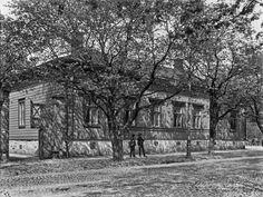 Bulevardi 5 - Annankatu 16.   Brander Signe HKM 1907   Helsingin kaupunginmuseo   negatiivi ja vedos, lasi paperi pahvi, mv
