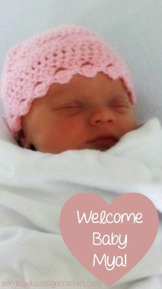 Simply Pink Newborn Hat free pattern
