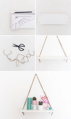 Follow this easy, 4-step home decor DIY project to make an Anthropologie-inspired swing shelf.