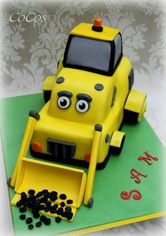 Digger cake by cupcakecoco.com