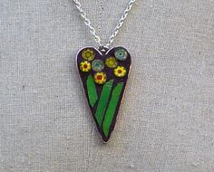 Field of Yellow Daisies Mosaic Pendant/Necklace by TheRedPoppyShop, $24.00