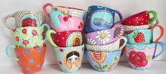 Paper Mache Tea Cups More
