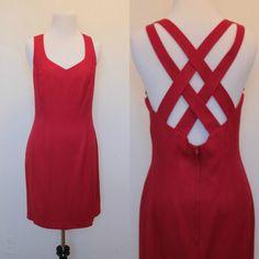 Vintage 1990s Red Mini Dress