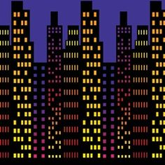 Party Supplies | New Year's Eve Decorations | City Backdrop...There's nothing like living the city life! Even if you don't live in the big city, you can throw a New Year's party or Hollywood party by decorating with this Cityscape Backdrop. Hang this backdrop on a wall and bring the city to you!