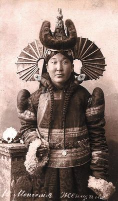 Mongolia woman from early 20th century...
