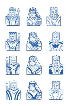 Playing cards Characters on Behance