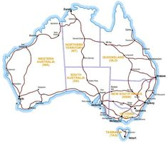 This map shows where the main highways go. 29 Maps Of Australia That Will Kinda Blow Your Mind Perth Australia, Western Australia, Australia Travel, Australia Facts, Australia Photos, Visit Australia, Highway Map, Road Trip Map, Road Trips