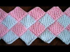 Cómo hacer una manta de ganchillo | How to crochet a stripped blanket - YouTube
