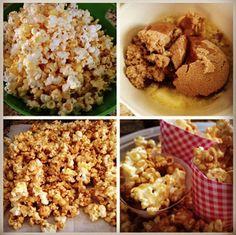 Four Girls & A Daddy: Our Olympic Celebration & Caramel Popcorn Recipe