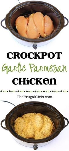 Crockpot Garlic Parmesan Chicken