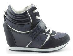 sneakersy calvin klein jeans re9267tea blue Calvin Klein Jeans, Wedges, Sneakers, Model, Shoes, Fashion, Tennis, Moda, Slippers
